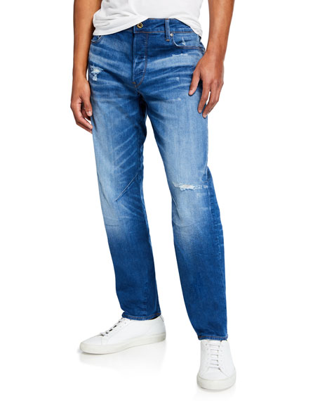 G-Star Men's Arc Relaxed Tapered Rode Denim Jeans