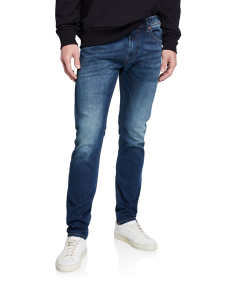 Diesel Men's Thommer Slim Fit Denim Jeans with Pocket Stitching