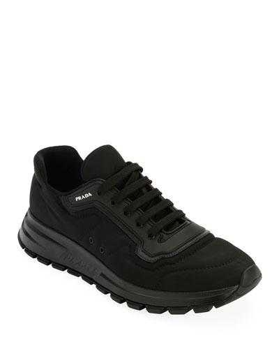 Men's Gabardine Soft Low-Top Sneakers