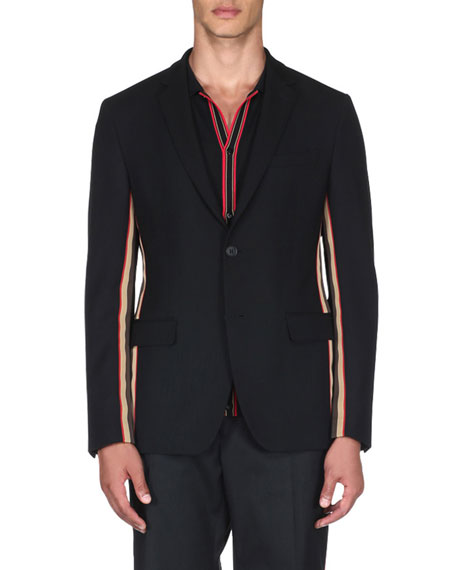 Fendi Men's Striped Blazer