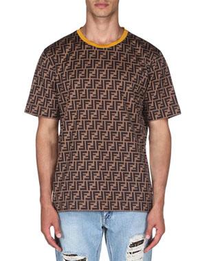 99fece401 Fendi Men's Allover Print Short-Sleeve T-Shirt