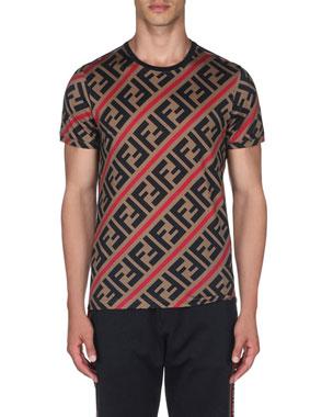 14ec0b4b Fendi Men's Horizontal Stripe T-Shirt