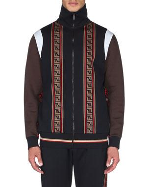 Fendi Men s Colorblock Zip-Front Track Jacket 662d6067ee6