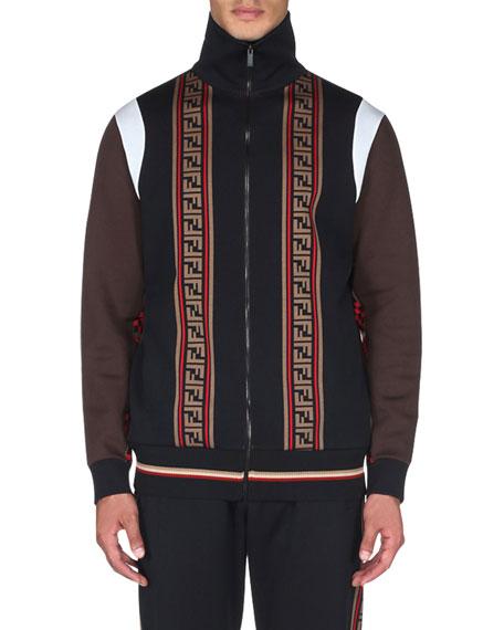Fendi Men's Colorblock Zip-Front Track Jacket