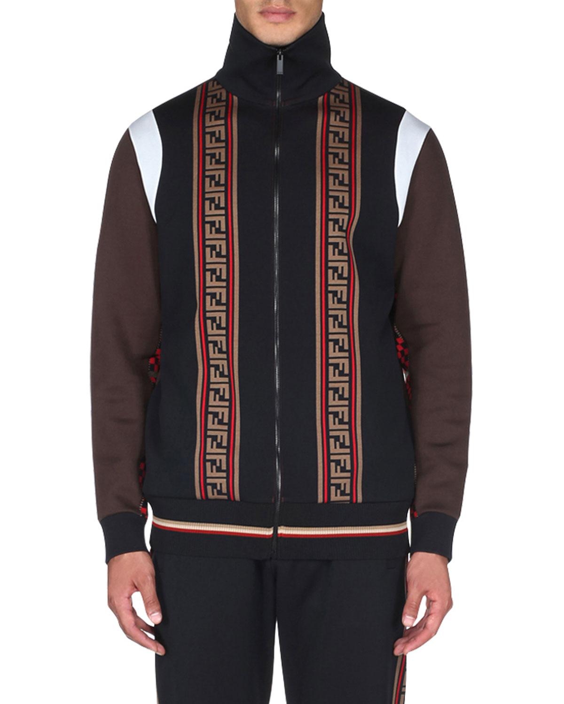 65f4e9f2f73 Fendi Men s Colorblock Zip-Front Track Jacket