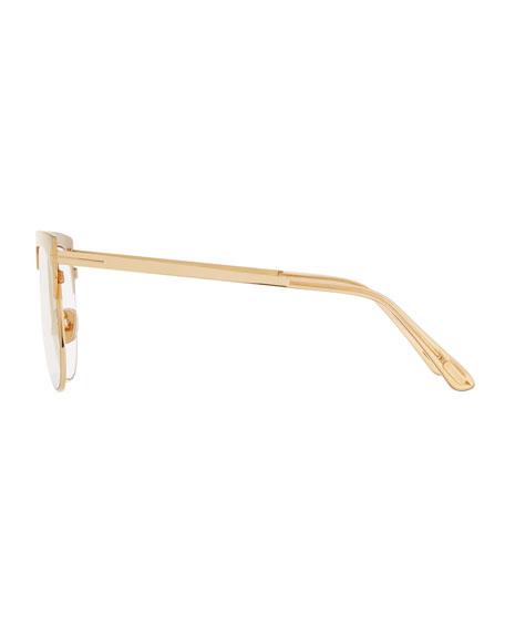 TOM FORD Men's Winter Transparent Mirrored Aviator Sunglasses