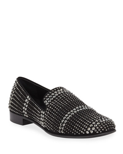 Men's Crystal Evening Slip On Shoes