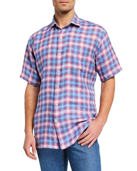 Peter Millar Men's Seaside Linen Short-Sleeve Sport Shirt