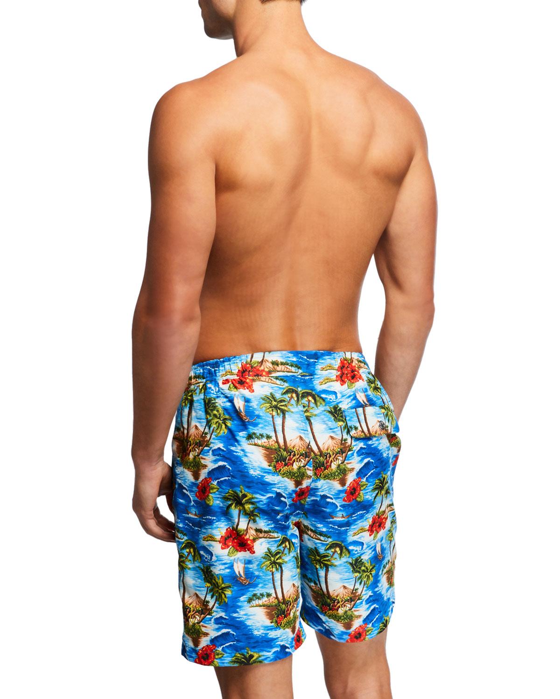 50e179cb89 Peter Millar Men's Vintage Coast Swim Trunks | Neiman Marcus