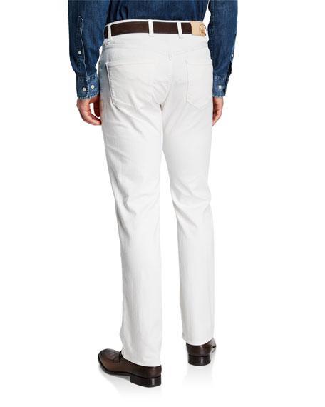 Peter Millar Men's Salt-Wash Denim Straight-Leg Jeans