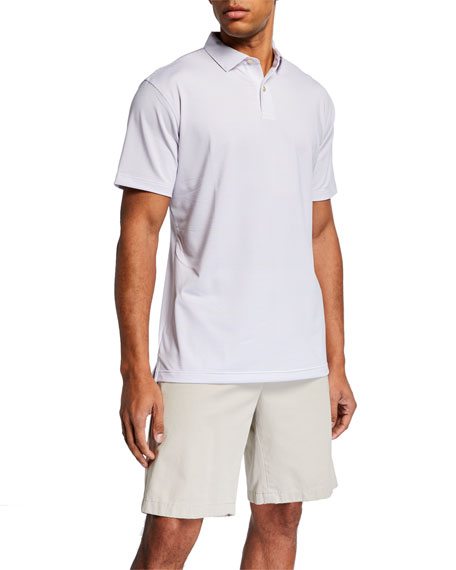 Peter Millar Men's Sean Holiday Striped Polo Shirt