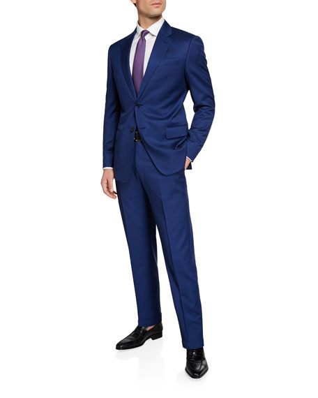 Image 2 of 4: Men's G Line Super 130s Wool Micro-Neat Two-Piece Suit