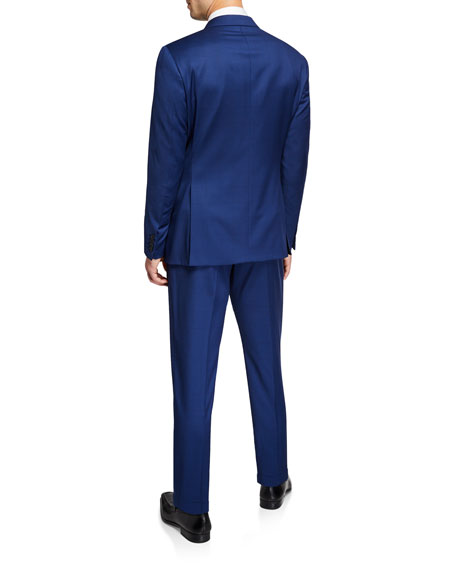 Image 3 of 4: Men's G Line Super 130s Wool Micro-Neat Two-Piece Suit