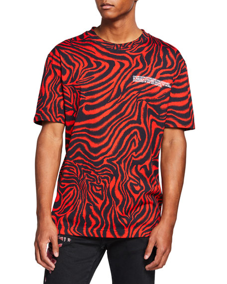CALVIN KLEIN 205W39NYC Men's Zebra T-Shirt