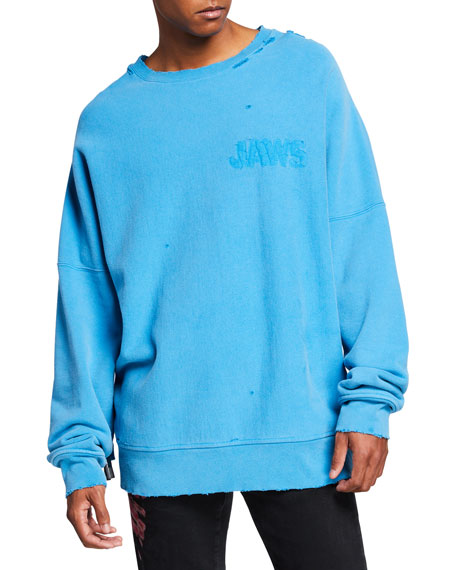 651a75137 Men's Oversized Jaws Sweatshirt