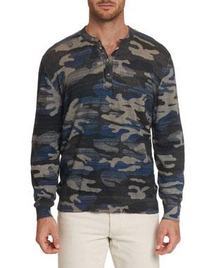 b020282aecdf Robert Graham Men's Jaxen Long-Sleeve Henley T-Shirt