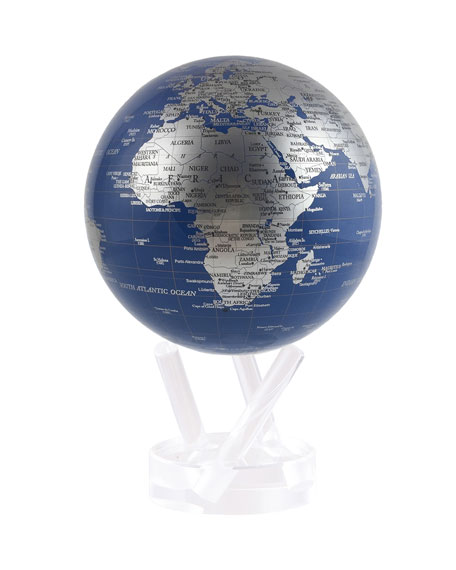 Mova Globe 4.5 Metallic Silver Floating Globe