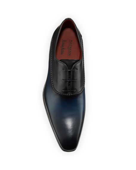 Magnanni for Neiman Marcus Men's Bol Wind Seamed Leather Dress Shoes