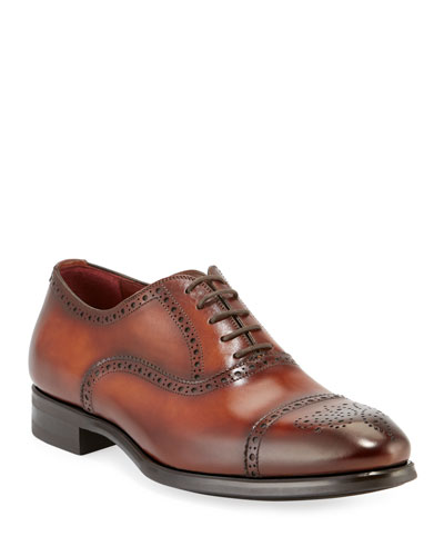 Men's Madison Leather Brogue Oxfords