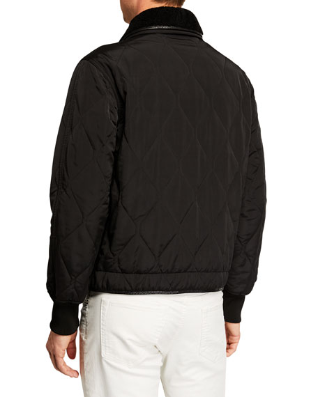 TOM FORD Men's Long-Sleeve Quilted Blouson