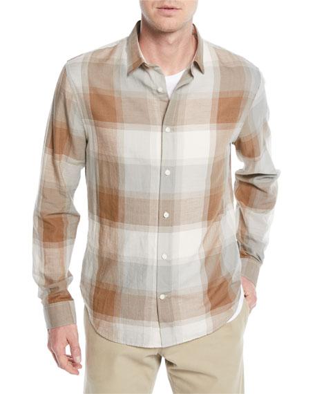 Vince Men's Vintage Wool/Cashmere Plaid Sport Shirt