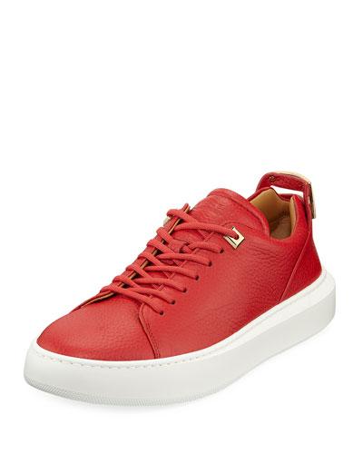 Men's 50mm Leather Low-Top Sneakers