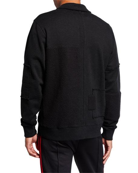 Ovadia Men's Half-Zip Patch Crew Shirt