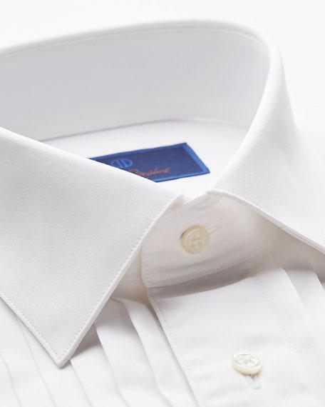 David Donahue Men's Regular-Fit Pleated-Front Formal Dress Shirt