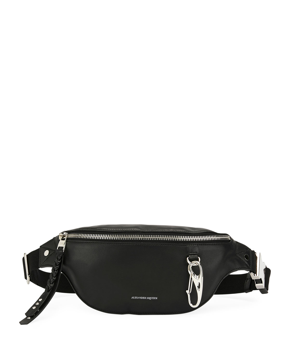 fe6aee81 Alexander McQueen Men's Mini Leather Belt Bag/Fanny Pack | Neiman Marcus