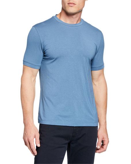 Emporio Armani Men's Basic Crewneck T-Shirt, Medium Blue