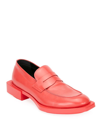 Men's Patent Leather Penny Loafer w/ Oversized Outsole