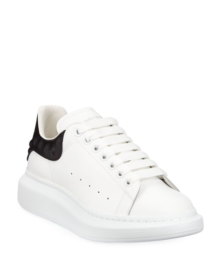 Alexander McQueen Men's Oversized Leather Low-Top Sneakers