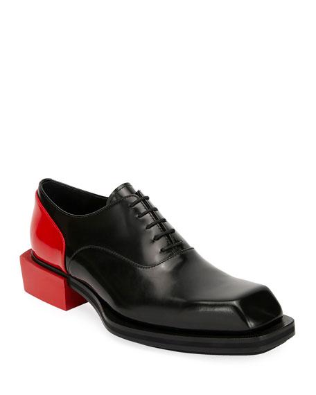 Alexander McQueen Men's Colorblock Leather Lace-Up Shoes