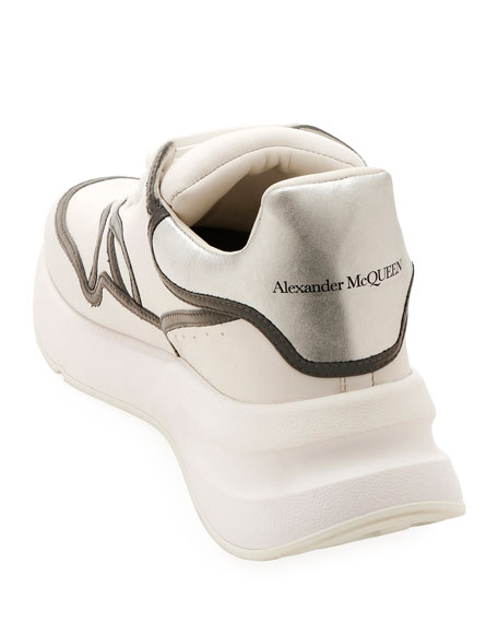 Alexander McQueen Men's McQueen Leather Runner Shoes