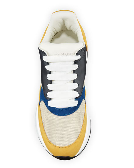 Alexander McQueen Men's Oversized Colorblock Trainer Sneakers