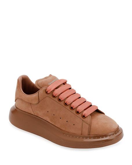 Alexander McQueen Men's Oversized Suede Sneakers