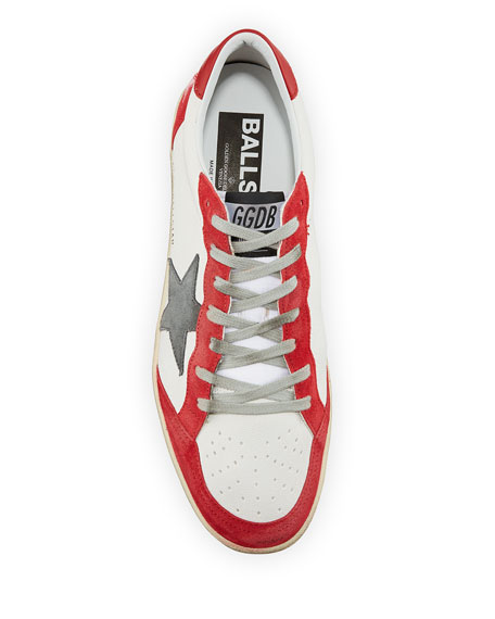 Golden Goose Men's Ball Star Leather Low-Top Sneakers