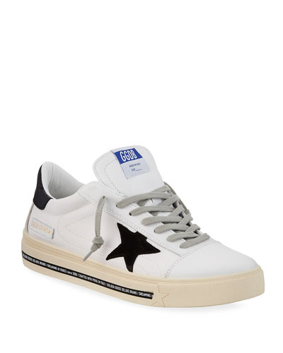 Men's Grindstar Lace-Up Leather Sneakers