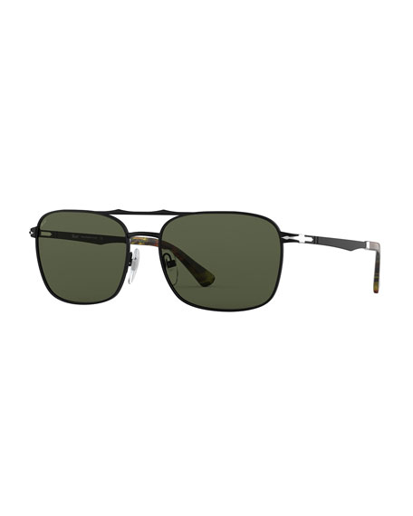 Persol Men's PO2454S Square Metal Sunglasses