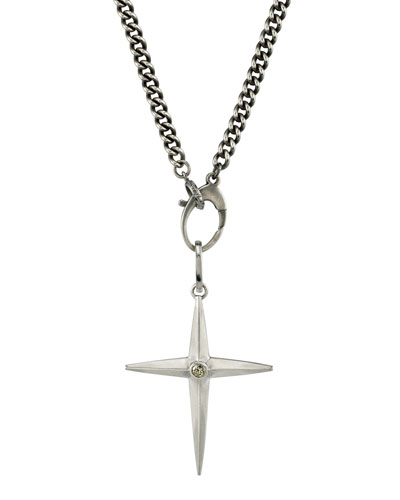 Men's Spike Cross Pendant Necklace