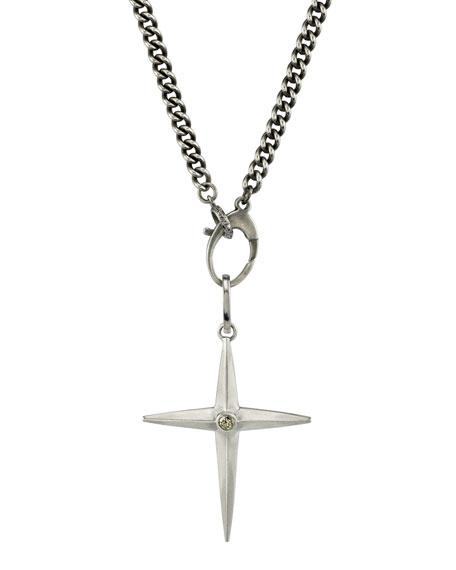 Mr. Lowe Men's Spike Cross Pendant Necklace