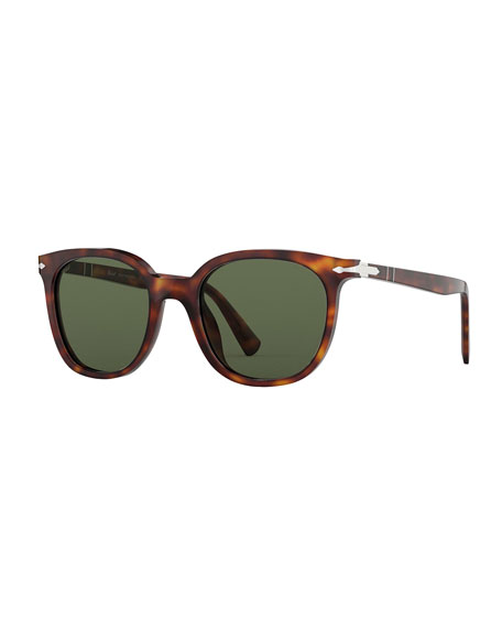 Persol Men's PO3216S Square Acetate Sunglasses