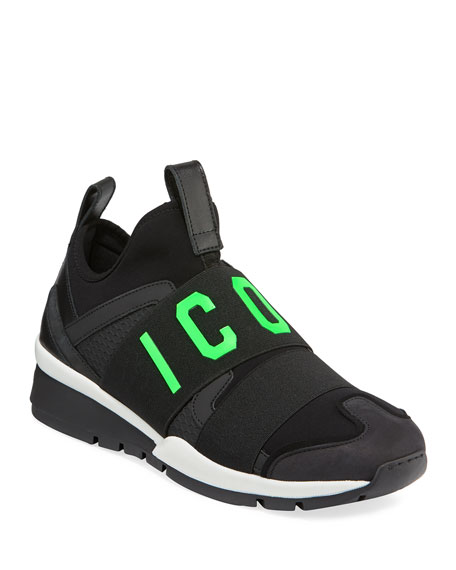 1ced7c73c2e50e Dsquared2 Men S Icon Neoprene Leather Trainer Sneakers. Margiela Shoes  Sneakers For Men At Neiman Marcus