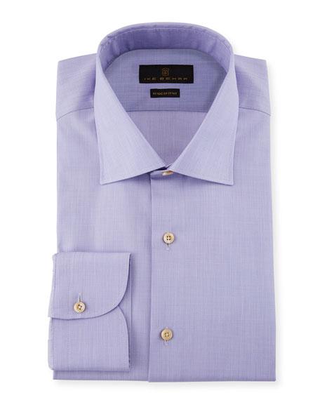 Ike Behar Marcus Solid Cotton Barrel-Cuff Dress Shirt