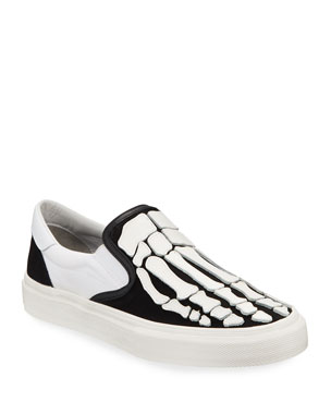 e796f9fc82b Amiri Men s Leather Bones Slip-On Sneakers