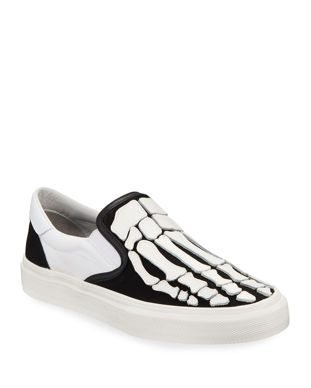 bf19524983a Amiri Men s Leather Bones Slip-On Sneakers