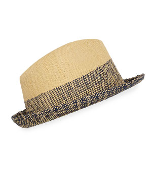 a38d858d36623 Paul Smith Men s Two-Tone Straw Trilby Hat