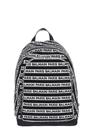 Balmain Men's Urban Small Canvas Backpack