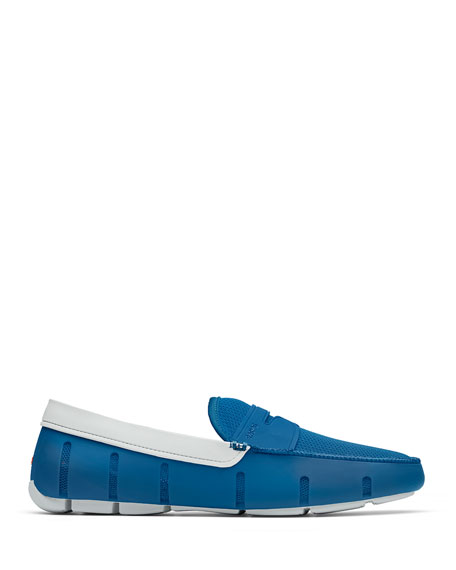 Swims Loafers MEN'S RUBBER PENNY LOAFER WATER SHOES, SEAPORT BLUE/ALLOY