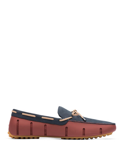 Men's Braided Lace Luxe Loafer Drivers  Red/Navy/Gum